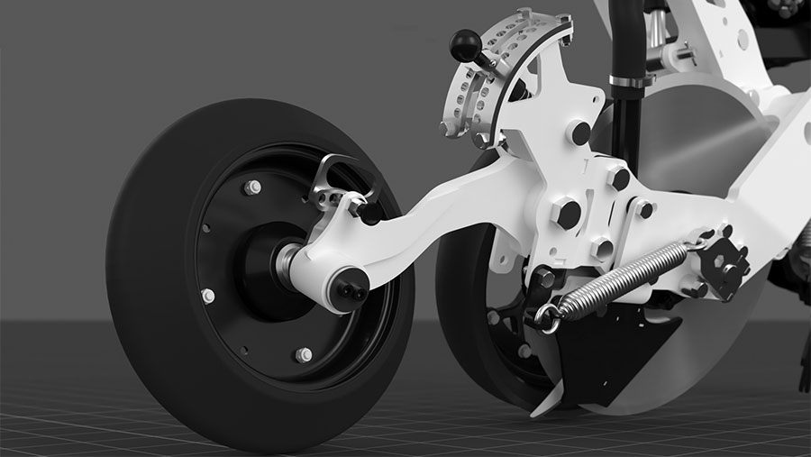 DSX rear closing wheel