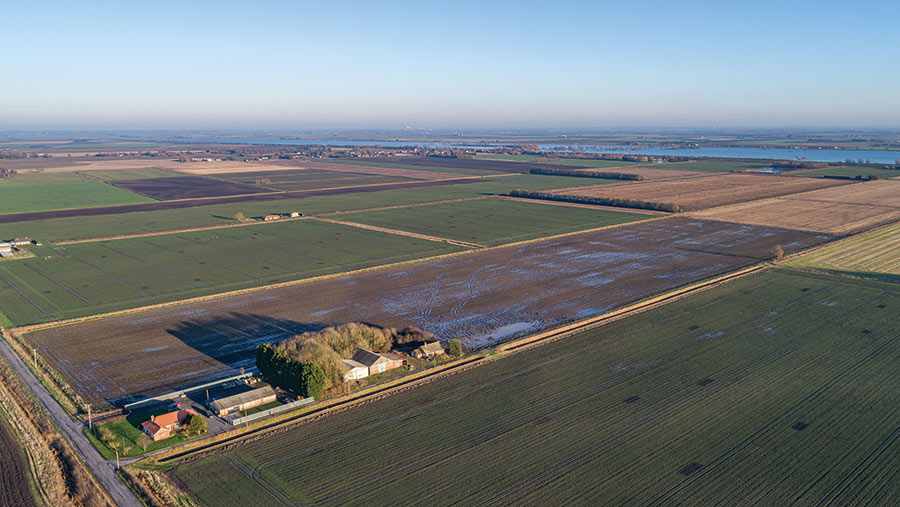 Aerial shot of NCC Farm and land
