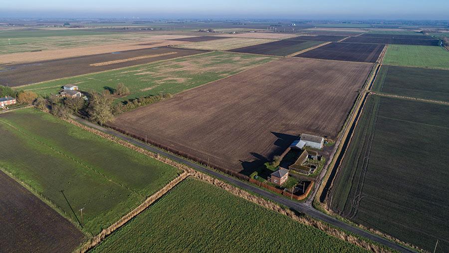 Aerial shot of New Road Farm