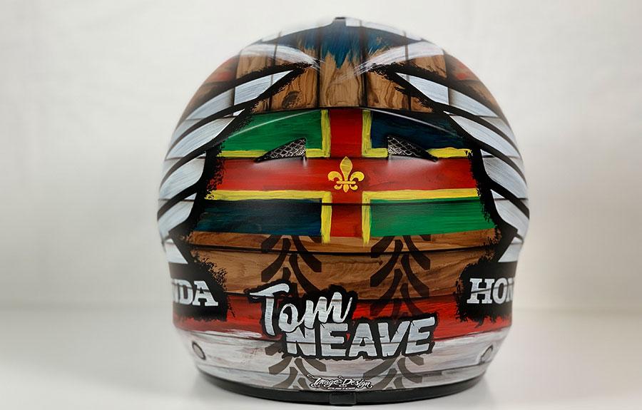Tom Neave's helmet