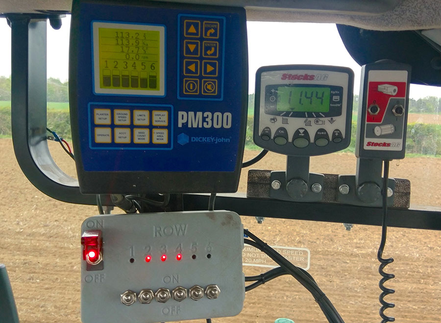The seeders' in-cab controls