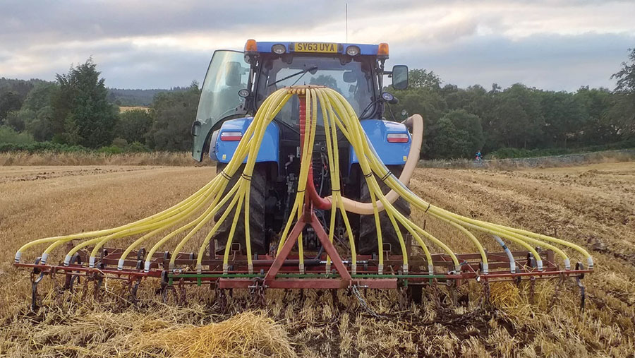 George McWilliam's cover crop drill