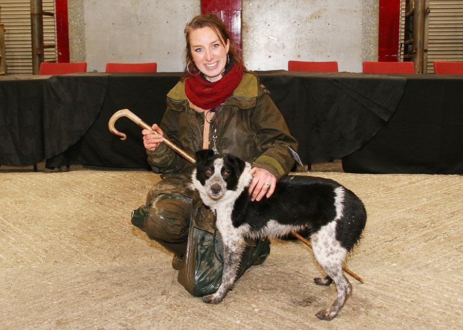 Breeder Emma Gray with sheepdog