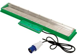 Radiant heat panel with electric cable