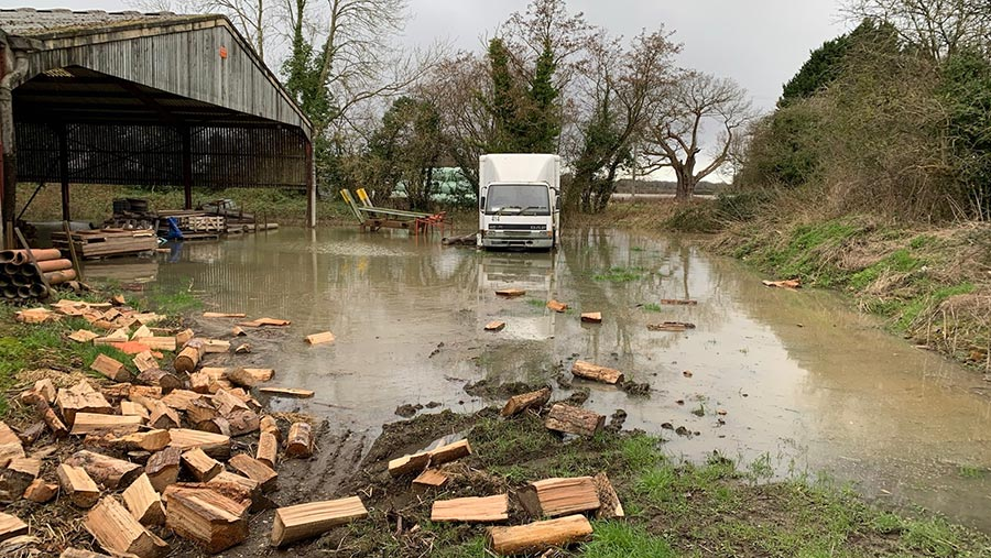 Robert Price's flooded farm