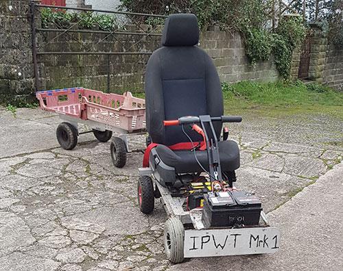 Ieuan Thomas' electric scooter