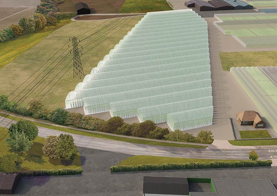 Artist's impression of vertical farm in Worcestershire