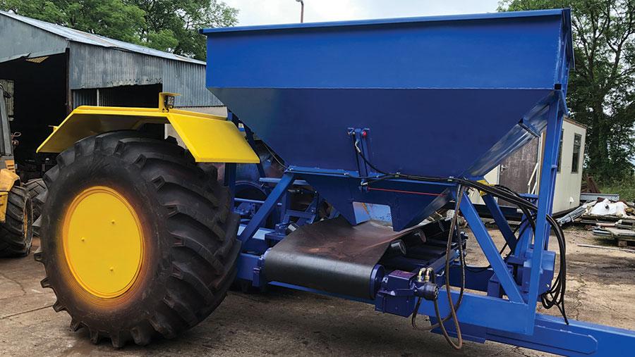 Robert Wright's ground-driven gravel cart