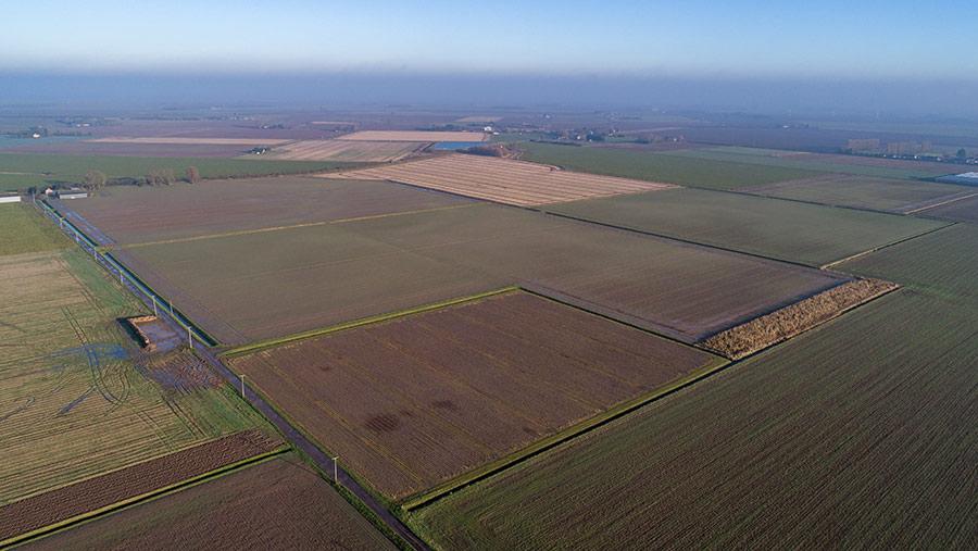 Aerial shot of Bank Cottage land