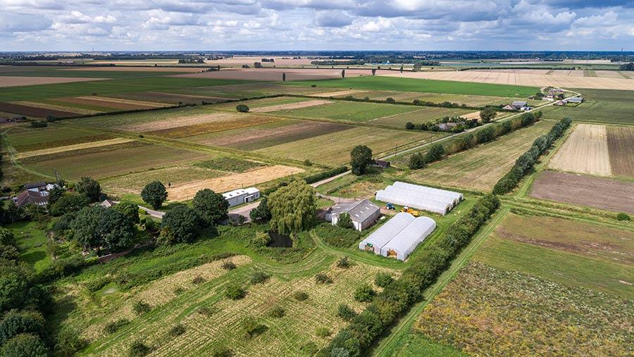 Aerial view of Ingleborough Farm