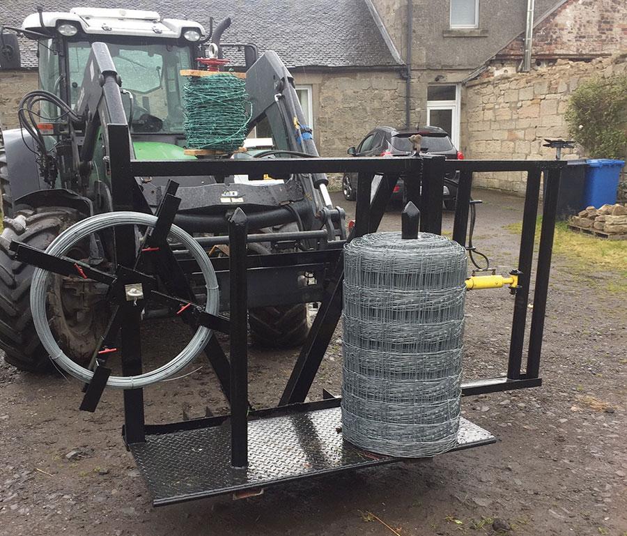 Andrew Reid's fencing machine