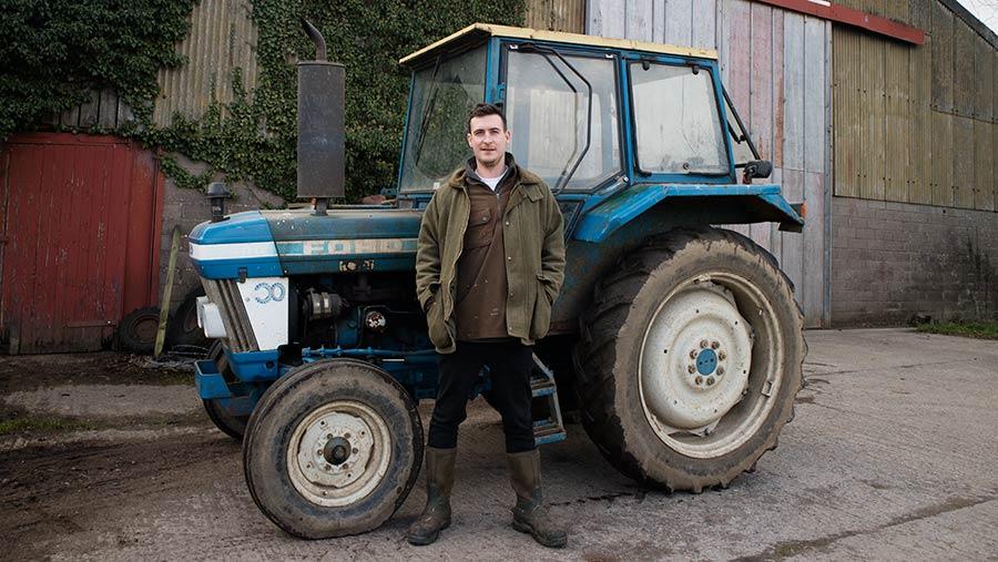 Peter Burn on his family's farm