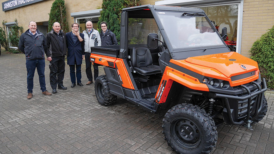 Johnston Tractors of Carlisle with Corvus buggy