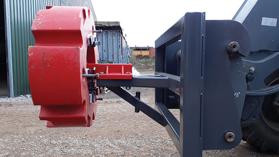 DJ's wheel weight loader attachment