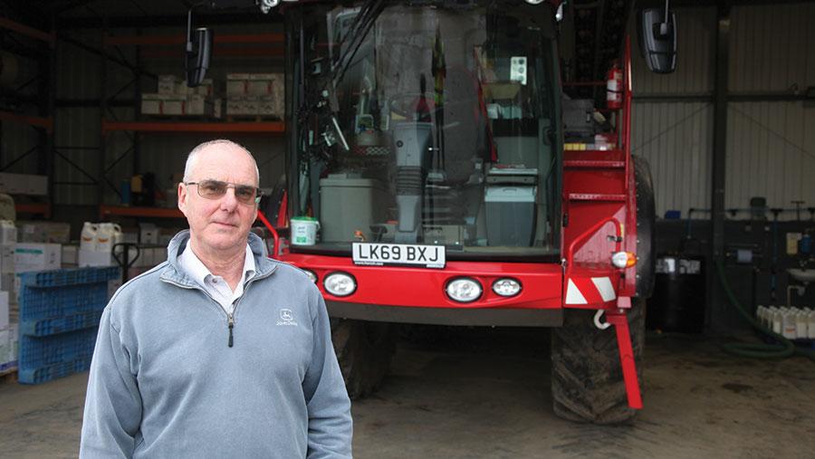 Farm manager Ian Rudge