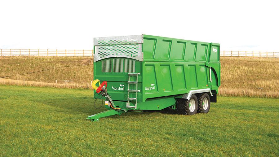 Marshall QM silage trailer
