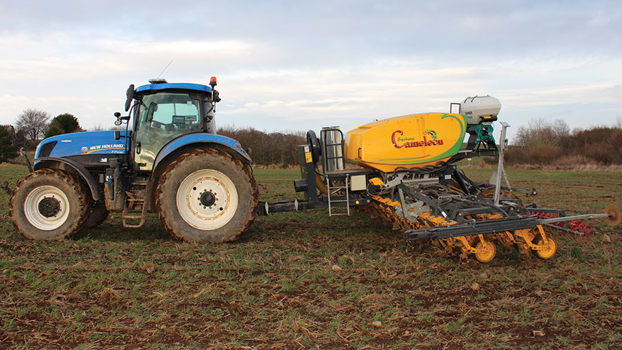 Murray Cooper weeding his crop