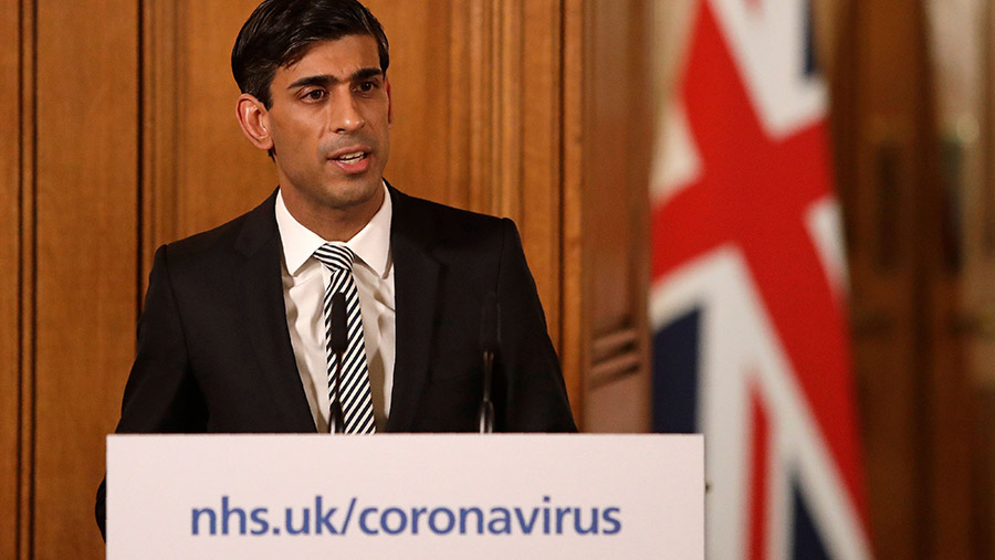 Chancellor Rishi Sunak gives a press conference about the ongoing situation with the COVID-19 © Matt Dunham/AP/Shutterstock
