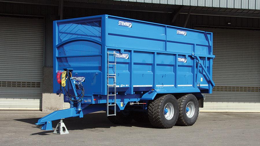 Stewart GX silage trailer range