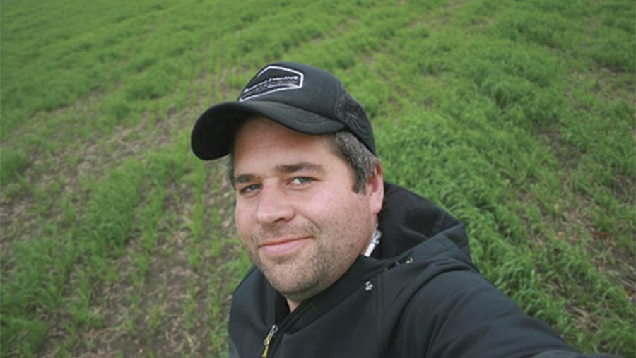 Farmer Steve Lear in a field