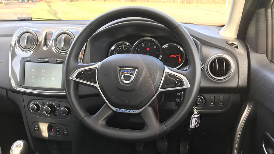 Interior of the Dacia Logan