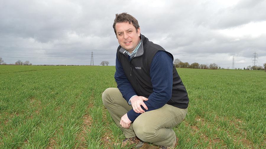 James Mayes in field