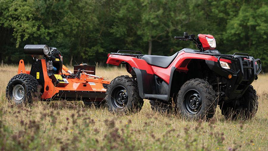 Chapman ATV flail mower