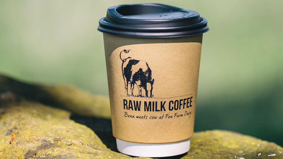 Raw milk coffee