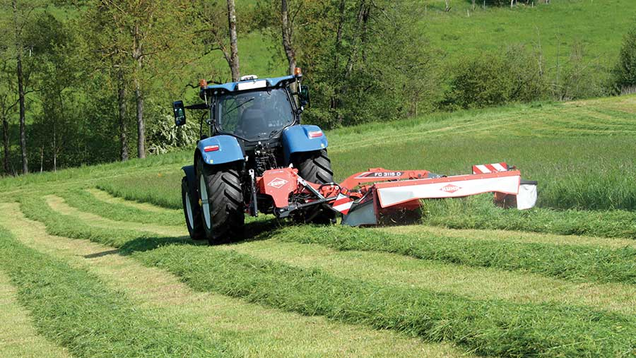 Kuhn folding mower