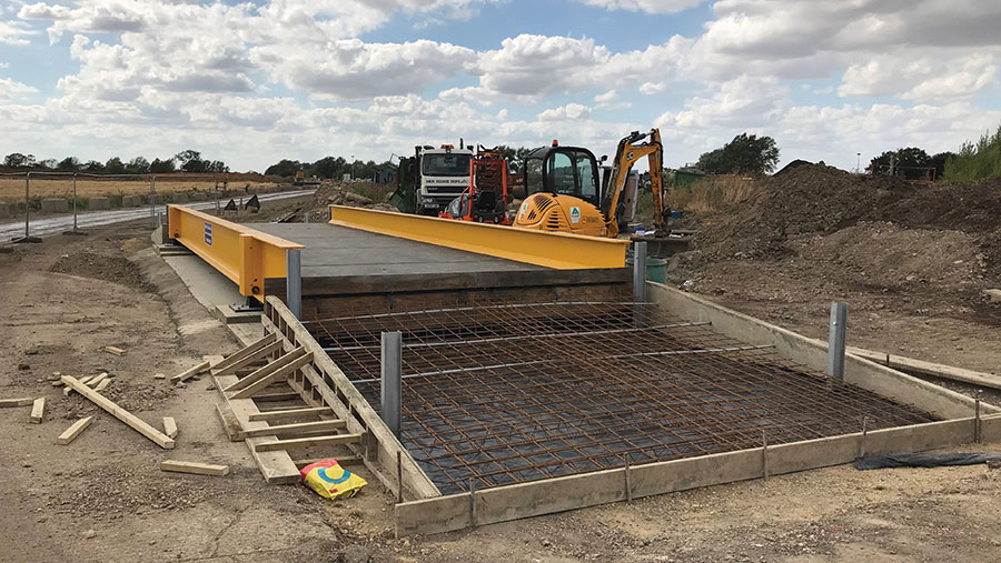 New City Scales concrete ramp construction