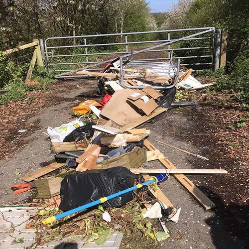 Rubbish dumped at Water Lane Farm