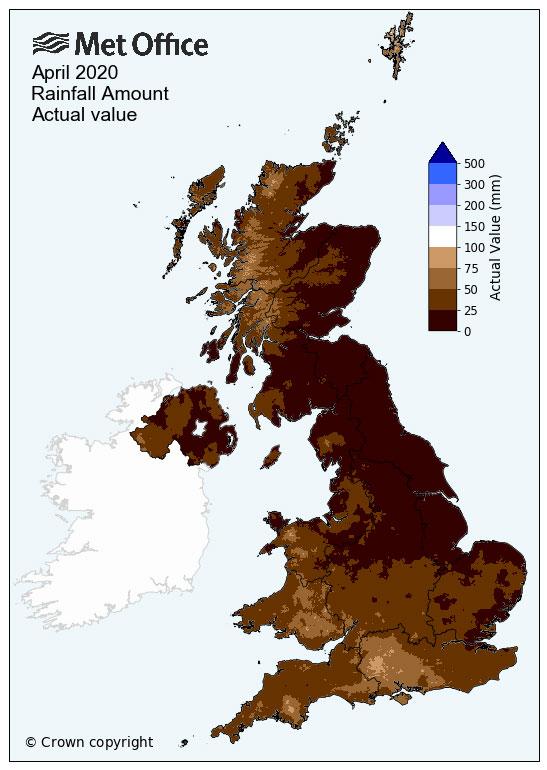 April 2020 rainfall map