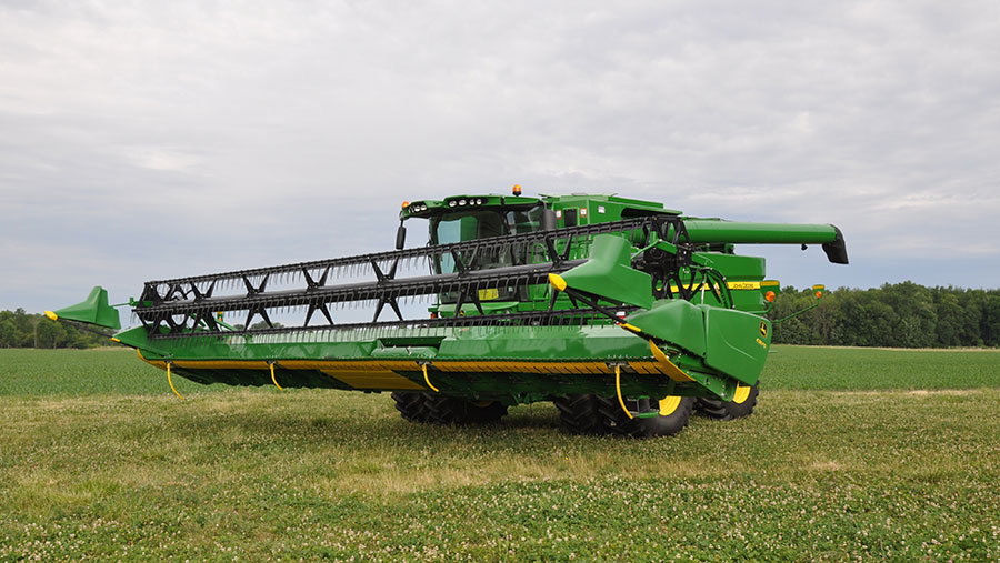 Combine with header control kit