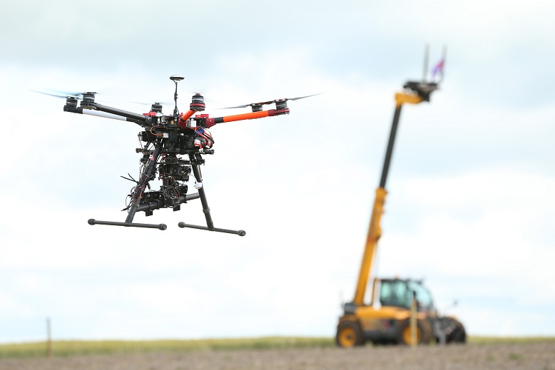 Drone used in the farm