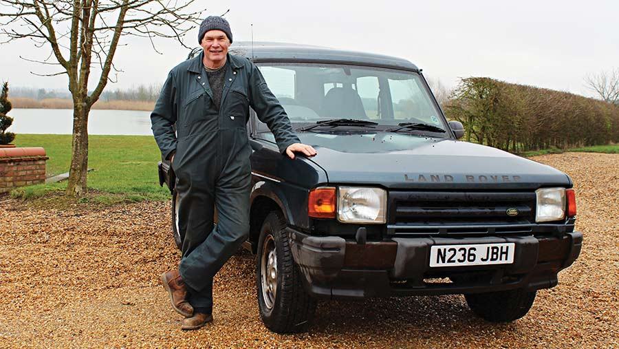 Martyn Rainbow with Land Rover Discovery