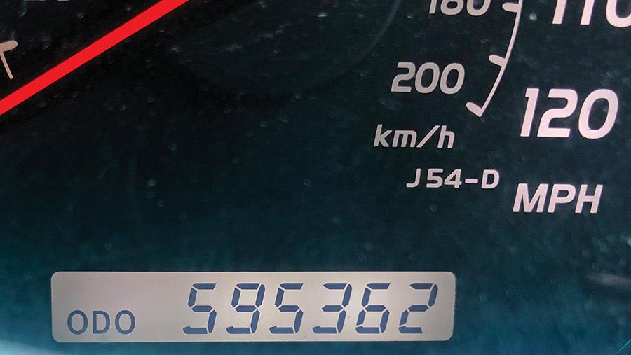 Land Cruiser milometer