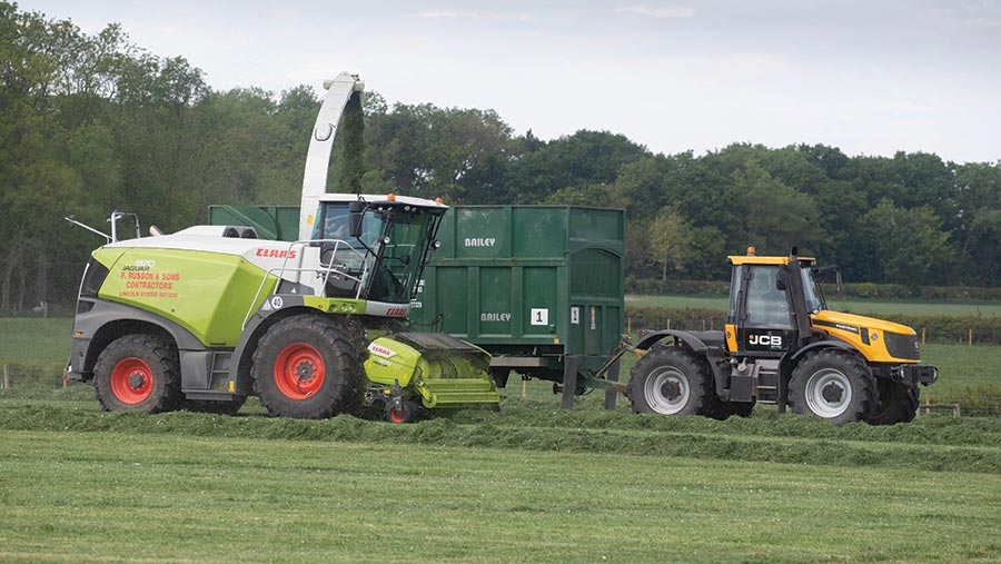 Silaging on a Lincolnshire farm