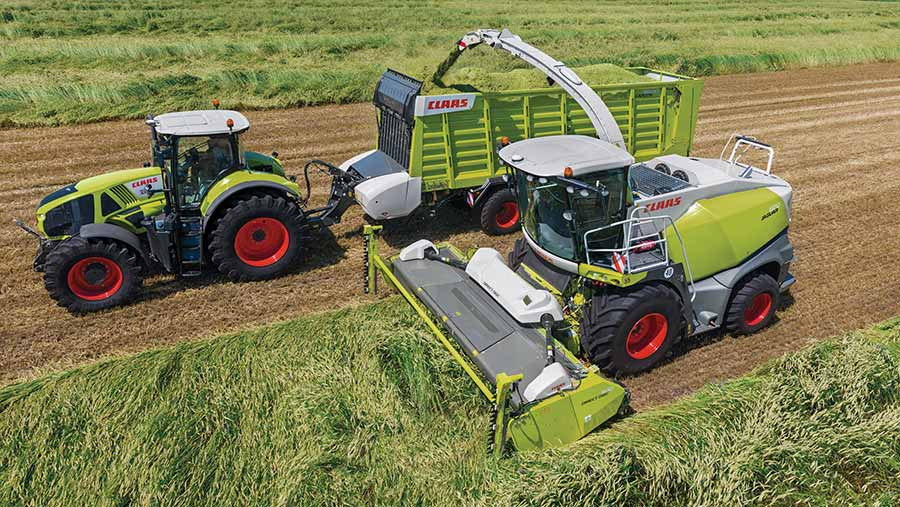 Claas Direct Disc in field