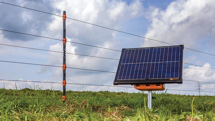 Gallagher solar panel