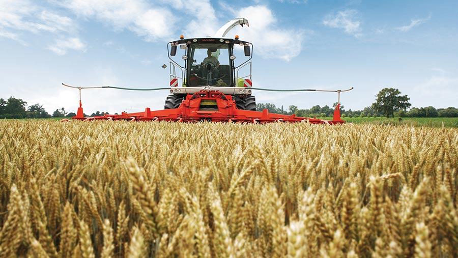 Kemper header on harvester