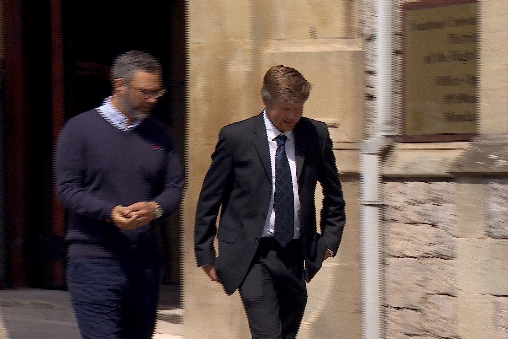 Farmer James Gigg (right) at Taunton Crown Court. Photo: Irving of Exeter