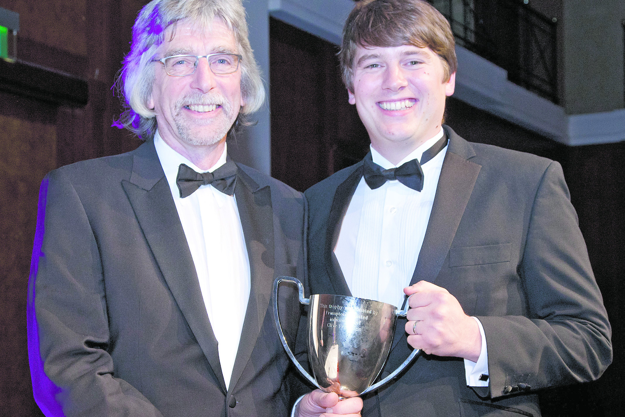 Last year's Young Poultry Person of the Year award was presented to Stephen Pace, right. Photo: Jon Page