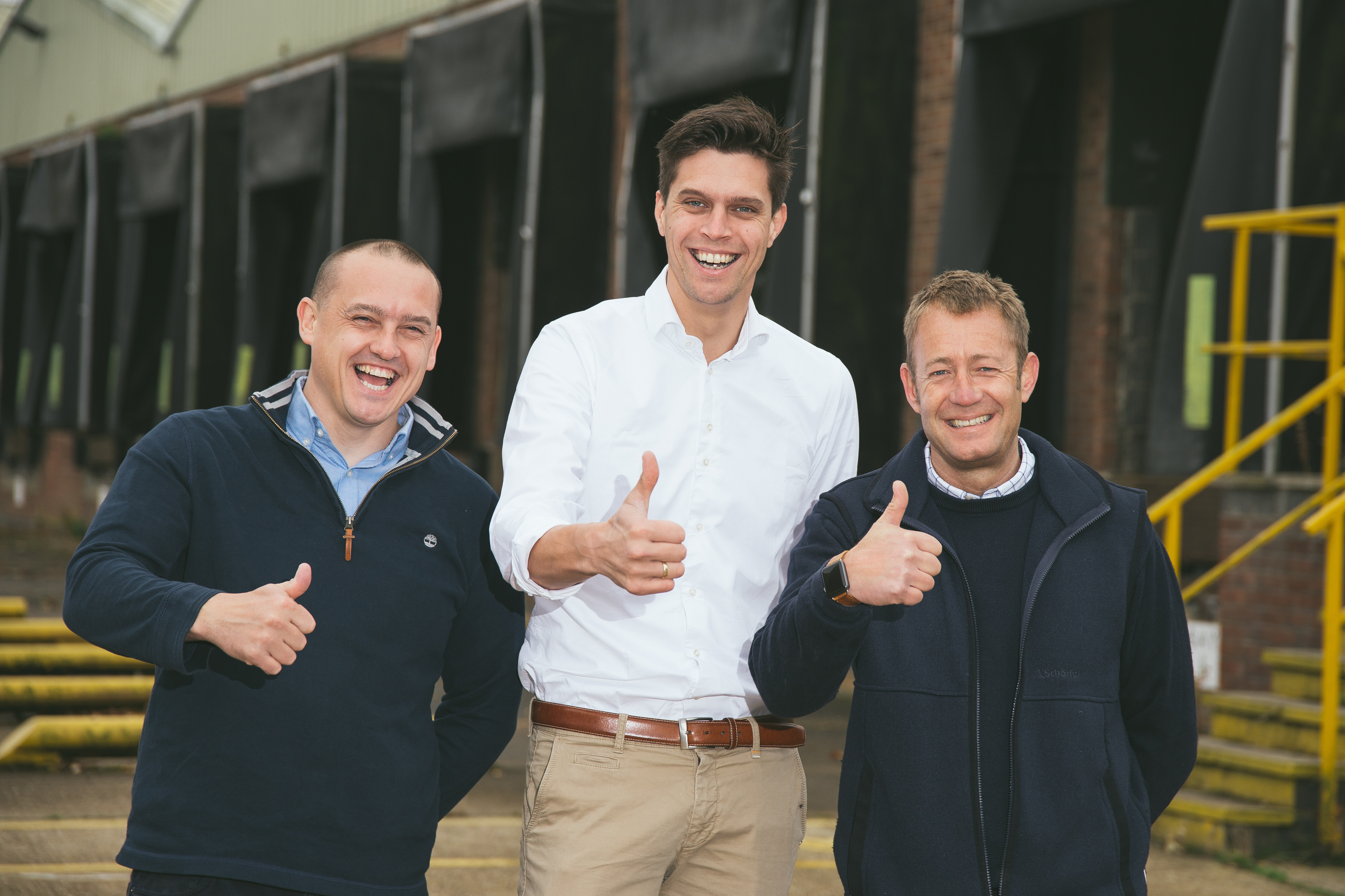 Left to Right- John Mawer owner Annyalla Chicks UK, Michiel van Veldhuisen international sales manager HatchTech and Jonathan Martin operations director Annyalla Chicks. Photo: Hatchtech