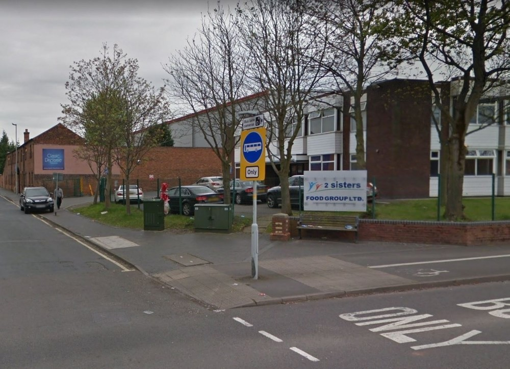 2 Sisters said its factory in Wolverhampton will not close, saving the jobs of 150 people. Photo: Google