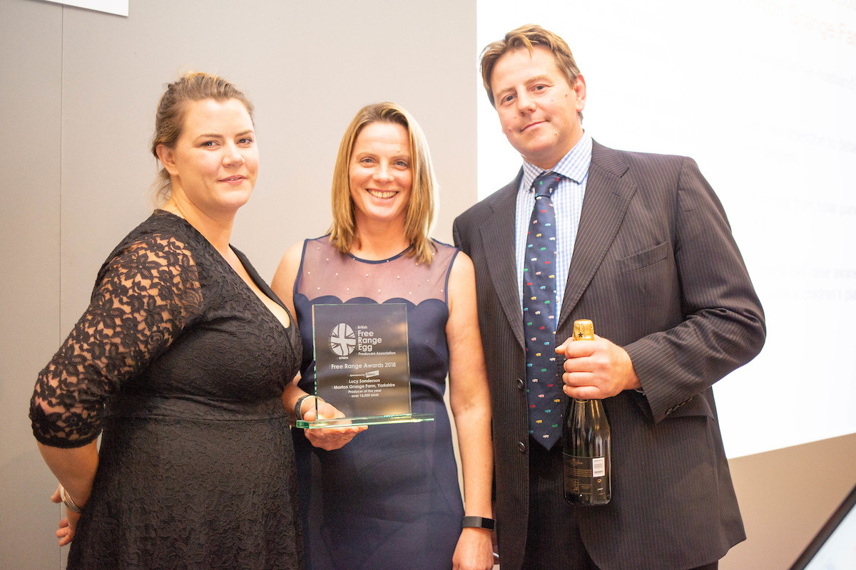 Lucy Sanderson, from Morton Grange Farm in Yorkshire, won producer of the year in the over 16,000 hens category. Photo: Tim Scrivener