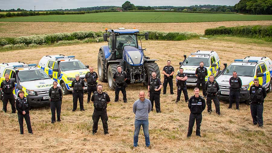 Sussex rural police on farm
