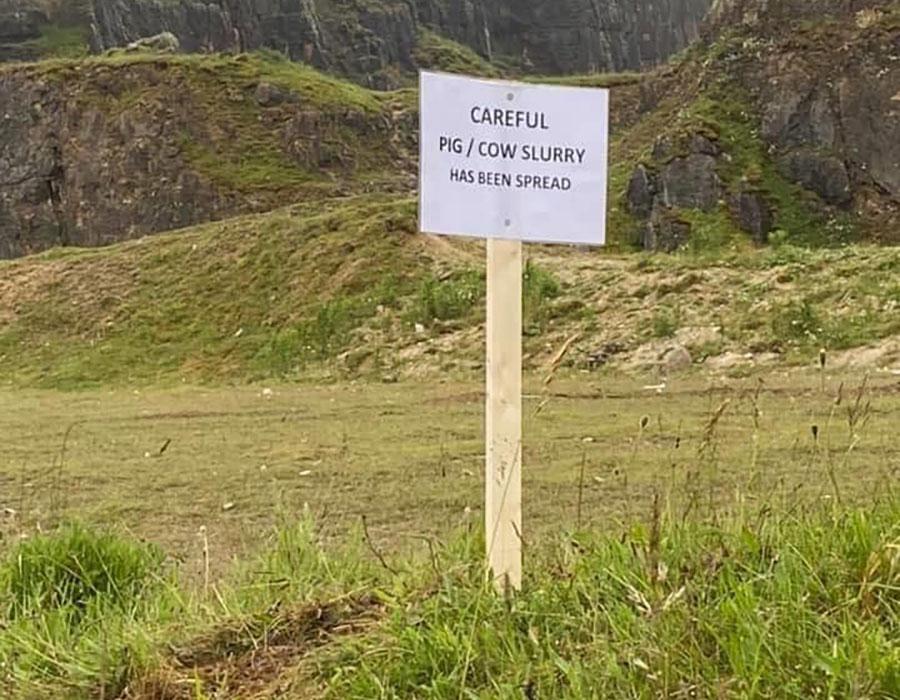 Slurry warning