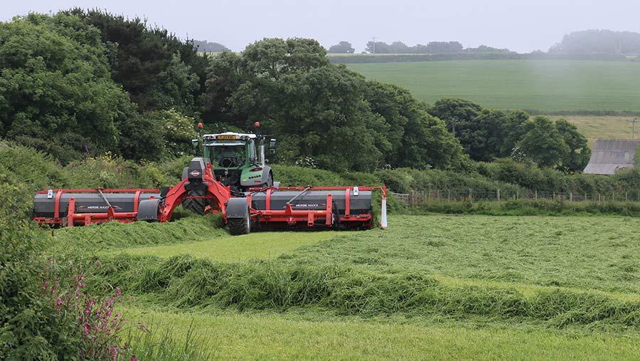 MergerMaxx at work in a field