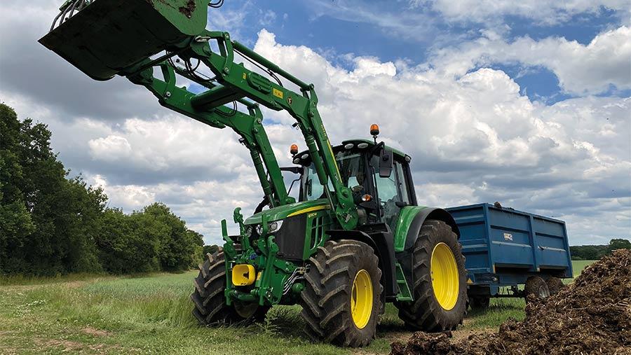 John Deere 6120M tractor