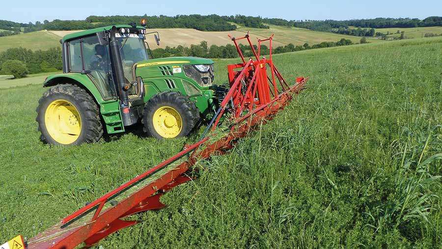 A Meneguzzo LOP series topper cleaning a crop of lentils.
